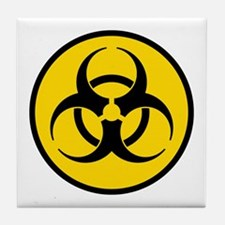 Yellow Biohazard Symbol Tile Coaster