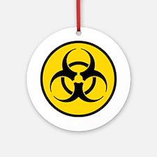 Yellow Biohazard Symbol Ornament (Round)