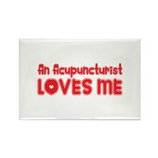 An Acupuncturist Loves Me Rectangle Magnet (100 pa