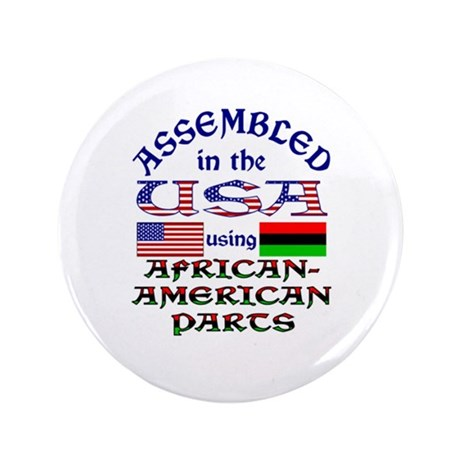 """USA / African-American Parts 3.5"""" Button"""