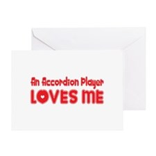 An Accordion Player Loves Me Greeting Card