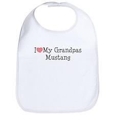 I Love My Grandpa's Mustang Bib