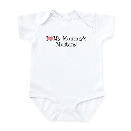 I Love My Mommy's Mustang Infant Bodysuit