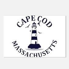 Summer cape cod- massachu Postcards (Package of 8)