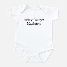 I Love My Daddy's Mustangs Infant Bodysuit