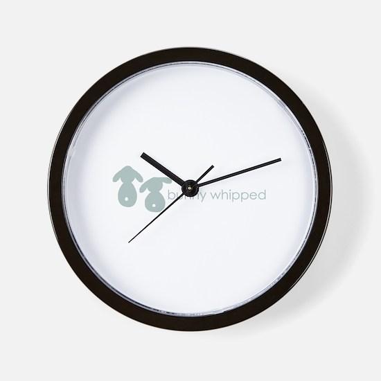 bunny whipped gray Wall Clock