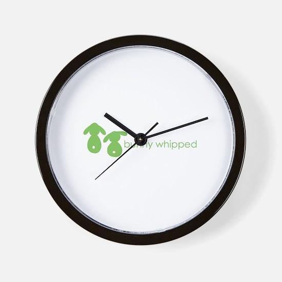 bunny whipped green Wall Clock