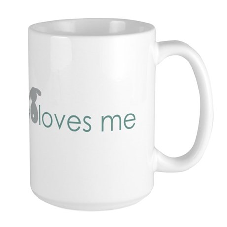 somebunny loves me Large Mug