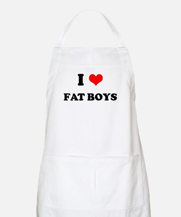 I Love Fat Boys (bold)  BBQ Apron