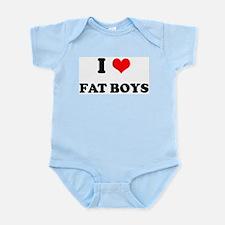 I Love Fat Boys (bold)  Infant Creeper
