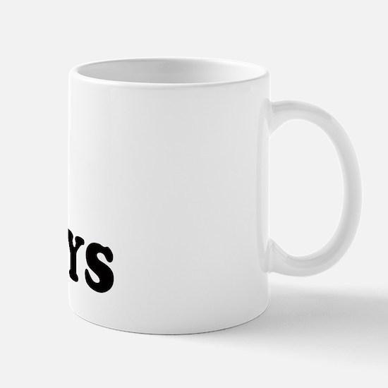 I Love Fat Boys (bold)  Mug