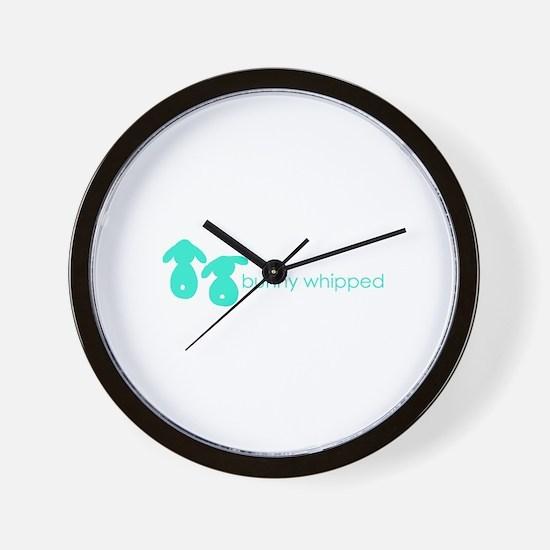 bunny whipped aqua Wall Clock