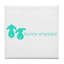 bunny whipped aqua Tile Coaster