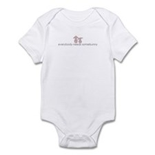 everybody needs somebunny Infant Bodysuit