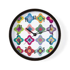 Scandinavian Flowers Wall Clock