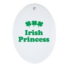 Irish Princess Oval Ornament