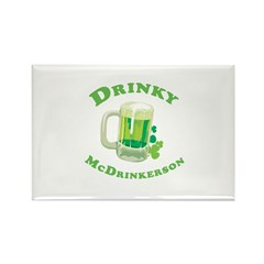 Drinky McDrinkerson Rectangle Magnet (10 pack)