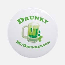 Drunky McDrunkerson Ornament (Round)
