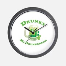 Drunky McDrunkerson Wall Clock