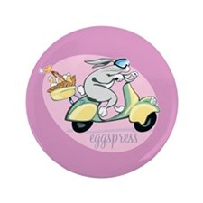 "Scooter Bunny Eggspress 3.5"" Button"