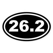 26.2 Marathon Running Black Euro Oval Decal