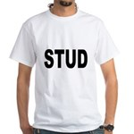 Stud (Front) White T-Shirt