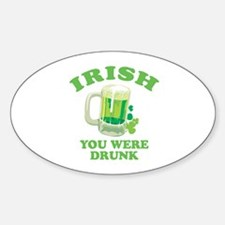 St. Patrick's day Oval Decal