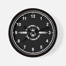 SkullFlames Wall Clock