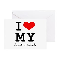 I love my aunt + uncle Greeting Card