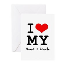 I love my aunt + uncle Greeting Cards (Pk of 10)