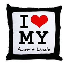 I love my aunt + uncle Throw Pillow