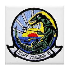 VA 95 Green Lizards Tile Coaster