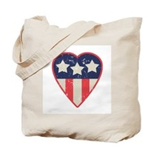 Simple Patriotic Heart Tote Bag