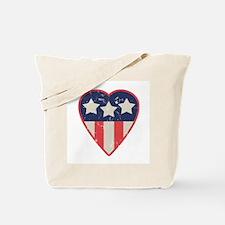 Simple Patriotic Heart Tote Bag