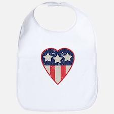 Simple Patriotic Heart Bib