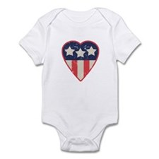 Simple Patriotic Heart Infant Creeper
