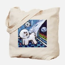Bichon Frise cs moon Tote Bag
