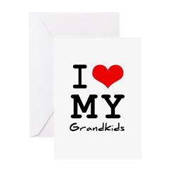 I love my grandkids Greeting Card