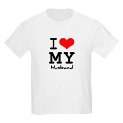 I love my husband Kids Light T-Shirt