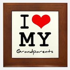 I love my grandparents Framed Tile