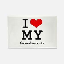 I love my grandparents Rectangle Magnet