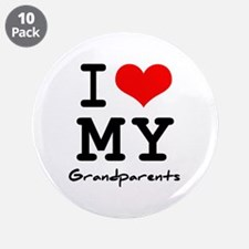 """I love my grandparents 3.5"""" Button (10 pack)"""