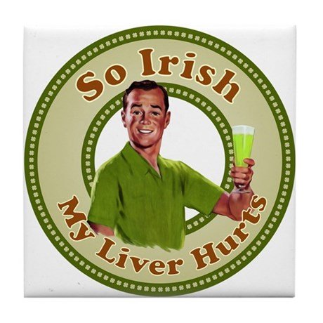 So Irish Tile Cocktail Coaster