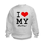 I love my mother Kids Sweatshirt