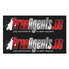 Free Agents Rectangle Decal