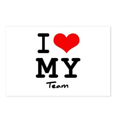 I love my team Postcards (Package of 8)