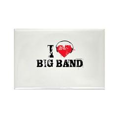 I love big band Rectangle Magnet (100 pack)