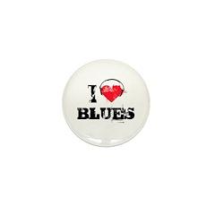I love blues Mini Button (10 pack)