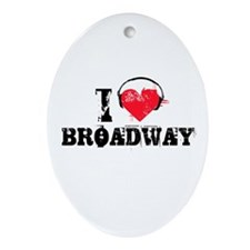 I love broadway Oval Ornament