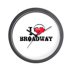 I love broadway Wall Clock